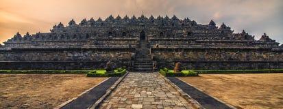 Templo de Borobudur en Java foto de archivo