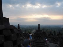 Templo de Borobudur en Magelang fotografía de archivo libre de regalías