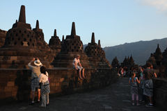 Templo de Borobudur, Java central, Indonésia Fotos de Stock