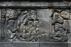 Templo de Borobudur, Java central, Indonésia Imagem de Stock Royalty Free
