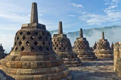 Templo de Borobudur, Java, Indonésia Imagens de Stock