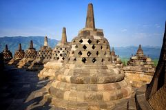Templo de Borobudur, Java, Indonésia Foto de Stock