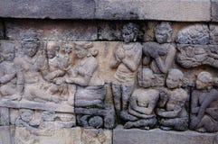 Templo de Borobudur, Java, Indonésia Imagens de Stock Royalty Free