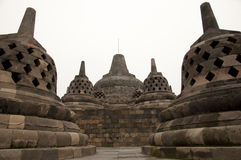 Templo de Borobudur - Jogjakarta - Indonésia fotos de stock royalty free