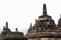 Templo de Borobudur - Jogjakarta - Indonésia Fotografia de Stock