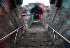 Templo de Borobudur no estéreo Fotos de Stock Royalty Free