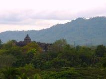 Templo de Borobudur, Yogyakarta - Indonésia imagem de stock