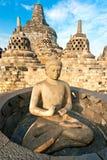Templo de Borobudur, Yogyakarta, Java, Indonésia. Imagens de Stock
