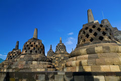 Templo de Borobudur. Yogyakarta, Java, Indonésia. fotografia de stock