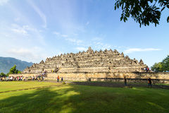 Templo de Borobudur, Yogyakarta, Java, Indonésia Imagem de Stock