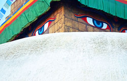 Templo de Bouddhanath em Kathmandu, Nepal Imagem de Stock