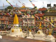 Templo de Boudhanath Foto de Stock Royalty Free
