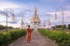 Templo de Buda de Tailandia en laguna del loto imágenes de archivo libres de regalías