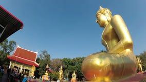 Templo de Buda de oro grande, Pattaya tailandia metrajes