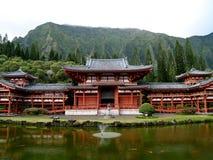 Templo de Budhist em Oahu Havaí fotografia de stock royalty free