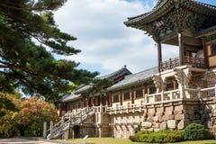 Templo de Bulgoksa - Corea Foto de archivo