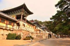Templo de Bulguksa, Gyeongju, Coreia Fotos de Stock Royalty Free