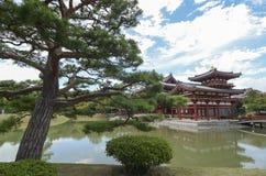 Templo de Byodoin en Uji, cerca de Kyoto en Japón Foto de archivo