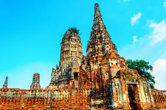 Templo de Chaiwattanaram Imagen de archivo