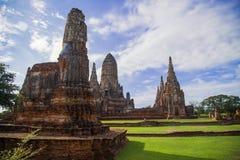 Templo de Chaiwattanaram Fotografia de Stock Royalty Free