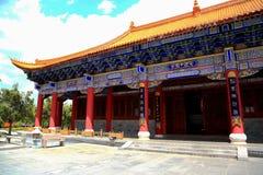 Templo de Chongshen e três pagodes em Dali Província de Yunnan China Imagem de Stock