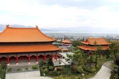 Templo de Chongshen y tres pagodas en Dali Provincia de Yunnan China Imagen de archivo libre de regalías