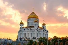Templo de christ o salvador em Moscovo fotografia de stock royalty free