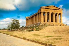 Templo de Concordia, Sicília Foto de Stock