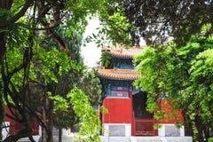 Templo de Confucio, Pekín, China imagenes de archivo