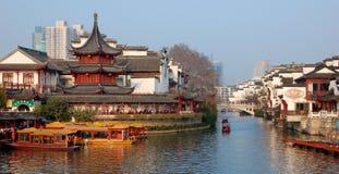 Templo de Confucius de la ciudad de NanJing del Año Nuevo de China Imagen de archivo