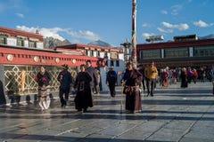 Templo de Dazhao, Tíbet, China foto de archivo libre de regalías