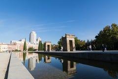 templo de Debod,马德里,西班牙 库存图片