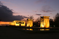 Templo de Debod de Egipto Fotos de archivo