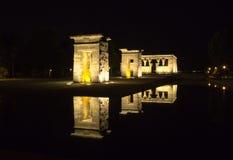 Templo de Debod en la noche Fotos de archivo libres de regalías