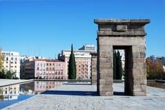 Templo de Debod en Madrid 3 Imagen de archivo libre de regalías
