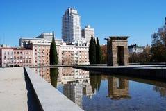 Templo de Debod en Madrid Imagen de archivo libre de regalías