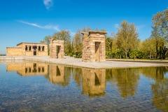 Templo de Debod en Madrid Fotos de archivo libres de regalías