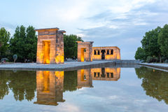 Templo de debod Madri Imagem de Stock