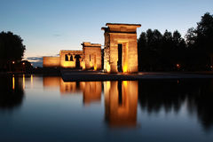 Templo de Debod in Madrid. The Temple of Debod in Madrid originally comes from Egypt royalty free stock photo