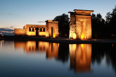 Templo de Debod in Madrid. The Debod-Temple was a gift from the Egypt people to the Spanish stock photos