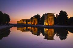 Templo de debod à Madrid, Espagne Images stock