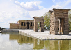 The Templo de Debod, Madrid, Spain Royalty Free Stock Images