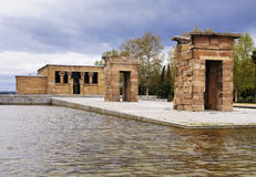 Templo de Debod, Madrid, Spain. The Egyptian Temple of Debod (Templo de Debod) in Madrid, Spain. It is an ancient temple which was relocated in Spain prior to Stock Photography