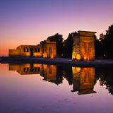 Templo de debod in Madrid, Spain Stock Photo