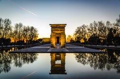 Templo de Debod, monumento egipcio en Madrid fotos de archivo libres de regalías