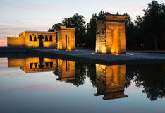Templo de Debod at sunset, Madrid Stock Photography