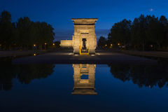 Templo de Debod at sunset, Madrid Stock Photos