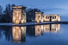 Templo DE Debod Temple van Debod Stock Afbeeldingen