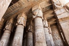 Templo de Dendera en Egipto Foto de archivo libre de regalías