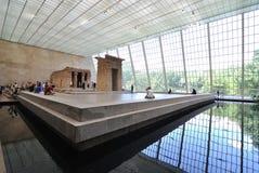 Templo de Dendur en museo de arte metropolitana Fotografía de archivo